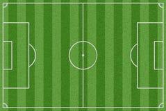 Het gebied van het voetbal met echt gras Royalty-vrije Stock Afbeeldingen