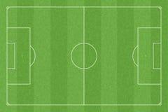 Het gebied van het voetbal met standaardmaatregelen Royalty-vrije Stock Afbeeldingen