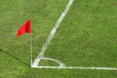Het Gebied van het Voetbal van de hoek royalty-vrije stock fotografie