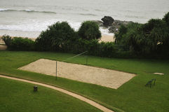 Het gebied van het Volleyball van het strand Stock Fotografie