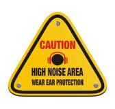Het gebied van het voorzichtigheids hoge lawaai - driehoeksteken stock illustratie