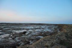 Het gebied van Ivanovo, verlaten steengroeve, moeras Royalty-vrije Stock Foto