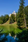 Het gebied van kasteeltrakoscan Zagorje, Kroatië stock fotografie