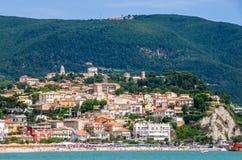 Het gebied van Marche - Numana - Ancona - Italië stock foto