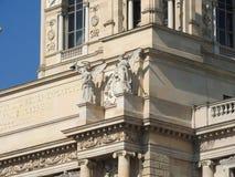 Het gebied van Maria-Theresien-Platz, Wenen, Oostenrijk, op een duidelijke dag royalty-vrije stock foto