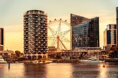 Het gebied van Melbourne, Australi? - Docklands- stock foto