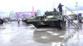 HET GEBIED VAN MOSKOU, RUSLAND - AUGUSTUS 25, 2017 Russische legertanks bij militaire parkpatriot Royalty-vrije Stock Foto