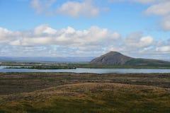 Het gebied van Myvatn in IJsland stock afbeeldingen