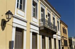 Het gebied van Plaka in Athene van Griekenland Stock Afbeeldingen