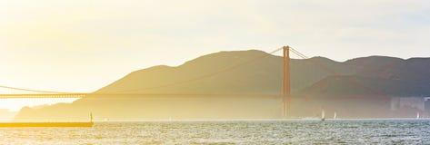 Het gebied van San Francisco Bay met Golden gate bridge Royalty-vrije Stock Foto's