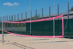 Het gebied van het strandvolleyball bekijkt in detail royalty-vrije stock foto