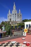 Het gebied van Tibidabo Stock Afbeeldingen