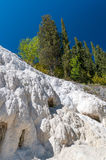 Het gebied van Toscanië, Italië Bagni San Filippo - Natuurlijke schoonheid gemaakt tot F stock afbeelding