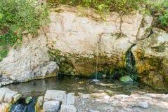 Het gebied van Toscanië, Italië Bagni San Filippo - Natuurlijke schoonheid gemaakt tot F stock foto's