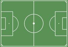 Het gebied van het voetbal vector illustratie