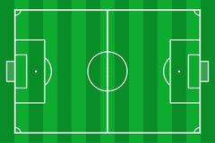 Het gebied van het voetbal Het groene hof van de grasvoetbal Model achtergrondgebied voor sportstrategie en affiche Vector stock illustratie