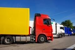 Het gebied van vrachtwagens onbeweeglijk stock fotografie