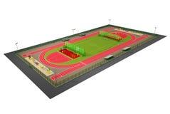 Het gebieds 3d model van de sport dat op wit wordt geïsoleerdp Stock Foto's
