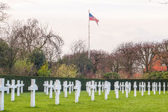 Het gebieds Amerikaanse begraafplaats Waregem België van Vlaanderen Royalty-vrije Stock Afbeeldingen