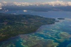 Het Gebieds Luchtmening van Indonesië Sulawesi Manado royalty-vrije stock fotografie