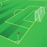 Het gebieds vectorillustratie van het voetbal. Stock Foto's