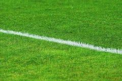 Het gebiedsgras van het voetbal Royalty-vrije Stock Foto's