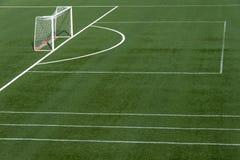 Het gebiedsgras van het voetbal Royalty-vrije Stock Foto