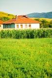 Het gebiedshuis van het graan stock fotografie