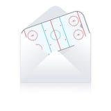 Het gebiedslevering van het hockey Stock Fotografie