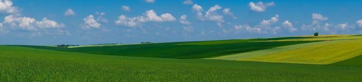 Het gebiedsmening van het panorama mooie landschap stock afbeelding