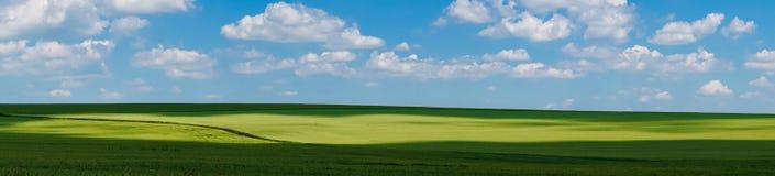 Het gebiedsmening van het panorama mooie landschap stock afbeeldingen
