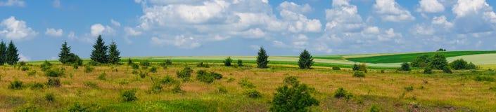 Het gebiedsmening van het panorama mooie landschap stock foto