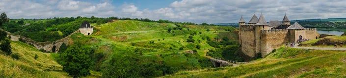 Het gebiedsmening van het panorama mooie landschap stock foto's