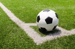 Het gebiedsstadion van het voetbal op de hoek. Stock Afbeeldingen