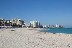 Het Gebiedsstrand van het Cancunhotel Royalty-vrije Stock Afbeeldingen