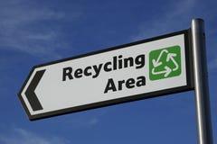 Het gebiedsteken van het recycling Stock Afbeelding