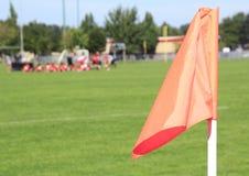 Het Gebiedsvlag van de voetbalhoek Stock Afbeelding