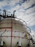 Het gebiedtank van het gas in petrochemische stof Stock Fotografie
