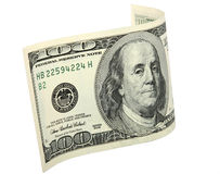 Het gebogen bankbiljet Royalty-vrije Stock Foto