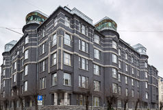 Het gebouw in Art Nouveau-stijl, Riga Stock Afbeeldingen