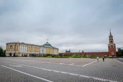 Het gebouw bij Ivanovskaya-Vierkant in Moskou het Kremlin, Rusland stock foto's