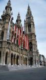 Het gebouw is in het hart van Wenen Stock Foto's