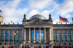 Het gebouw Reichstag Royalty-vrije Stock Foto's