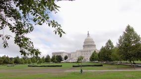 Het gebouw van het Capitool van Verenigde Staten stock videobeelden