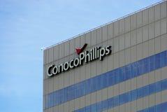 Het gebouw van Conoco Phillips in Anchorage van de binnenstad, Alaska stock fotografie