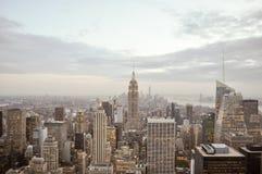 Het gebouw van de Imperiumstaat, de Stad van Manhattan, New York Stock Foto's