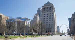 Het gebouw van Heilige Louis University, St Louis Missouri Royalty-vrije Stock Foto's