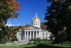 Het gebouw van het Capitool van de Staat in Montpelier Vermont Stock Foto's