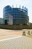 Het gebouw van het Europees Parlement in Straatsburg Royalty-vrije Stock Foto's