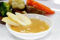 Het gebraden boterblok Kerry van Apple saus Royalty-vrije Stock Afbeelding